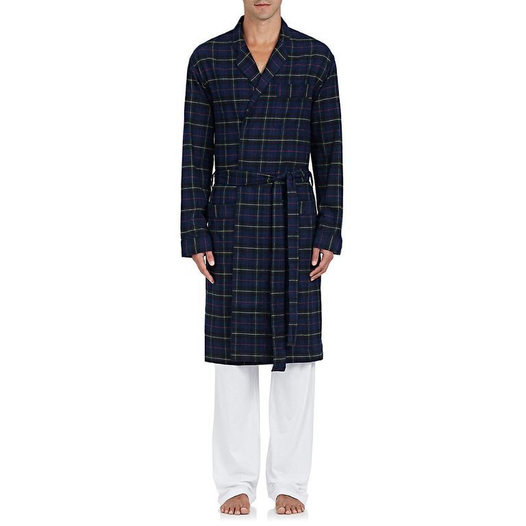 Sleepy Jones Adams Plaid Cotton Robe
