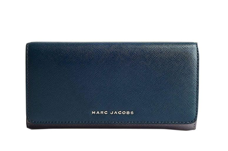 Marc Jacobs Saffiano Bicolor Flap Continental Wallet