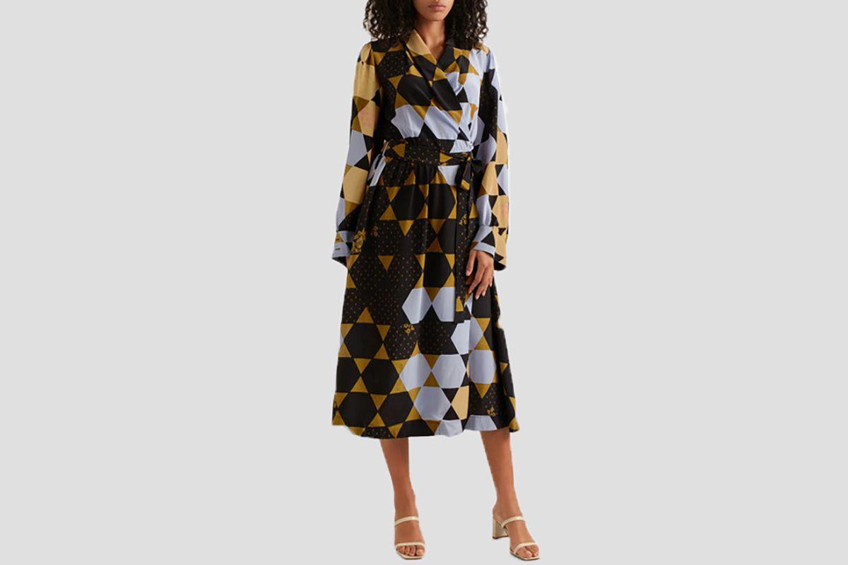 Stine Goya Micaela printed silk wrap dress