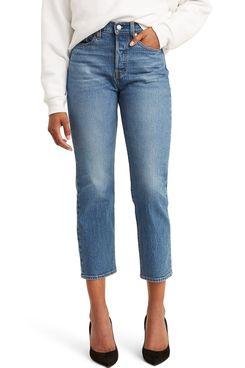 Levi's Wedgie High-Waist Crop Straight Leg Jeans