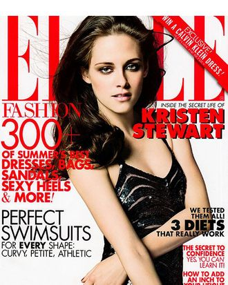Kristen Stewart for <em>Elle</em>.