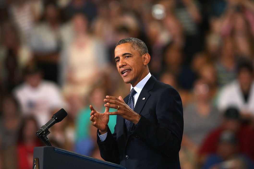 President Barack Obama addresses the state of the economy during a speech at Knox College on July 24, 2013 in Galesburg, Illinois.