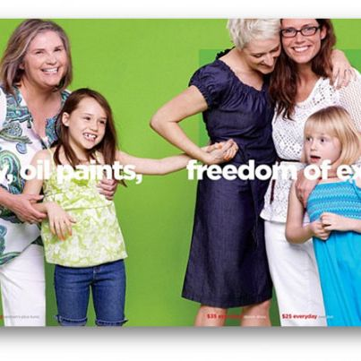 Lesbians in J.C. Penney's Mother's Day catalog.