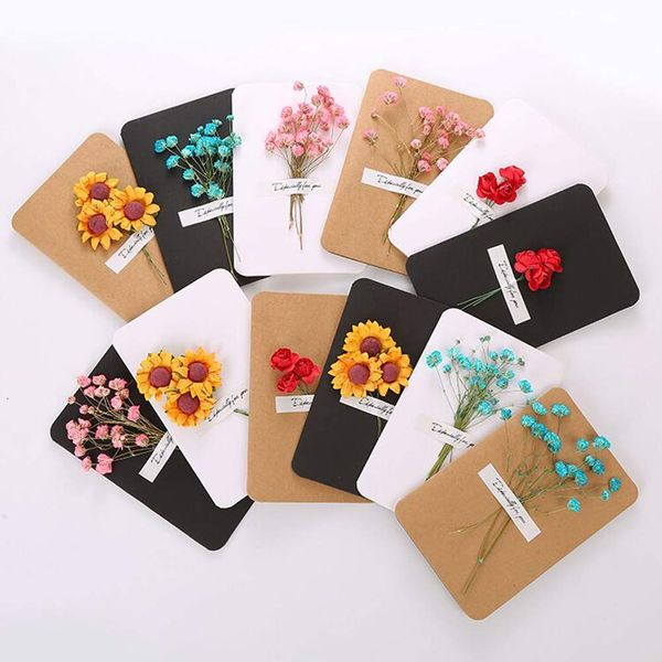 Dried Flower Greetings Cards (12 pack)