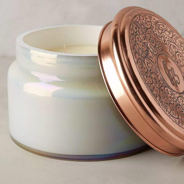 Capri Blue Colossal Mercury Glass Candle