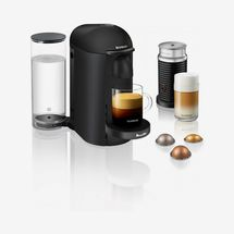 Nespresso by Breville VertuoPlus Deluxe Matte Black Coffee & Espresso Machine with Aeroccino3