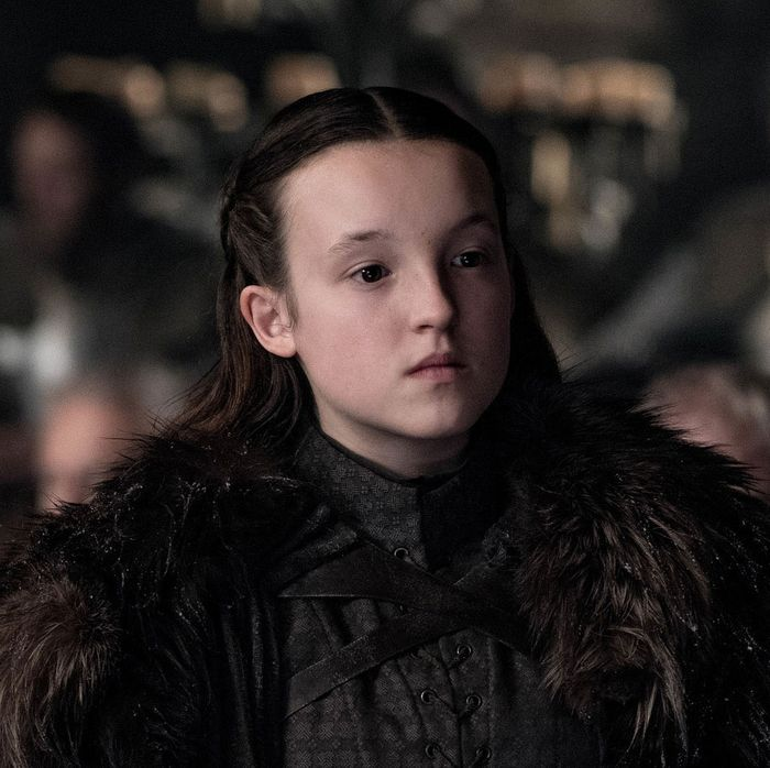Bella Ramsey as Lyanna Mormont in the season eight Game of Thrones premiere.