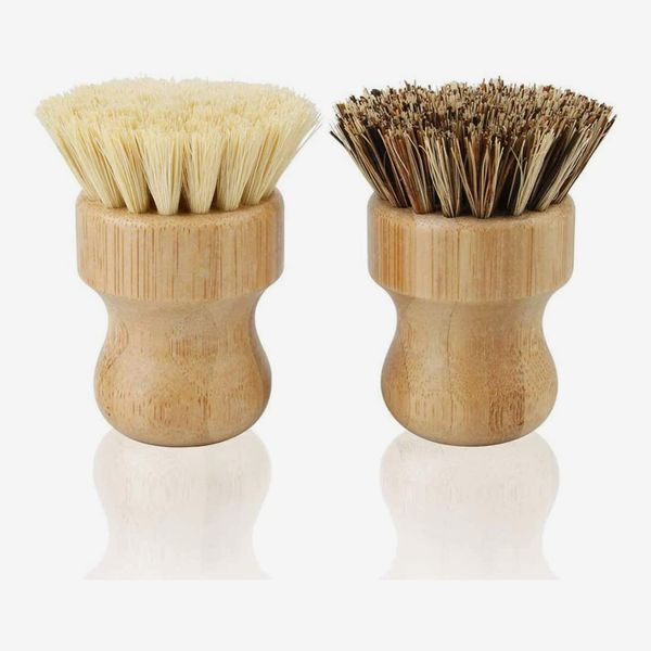 Round Natural Bamboo Cleaning Brush