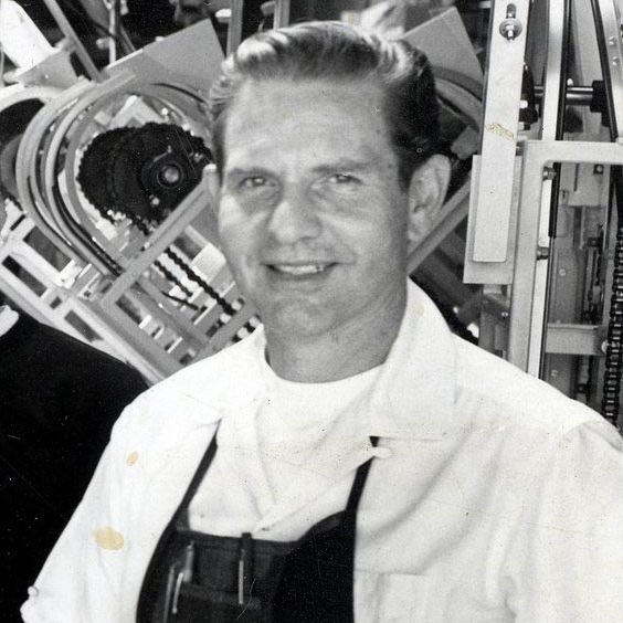Daniel Thompson, with his invention.