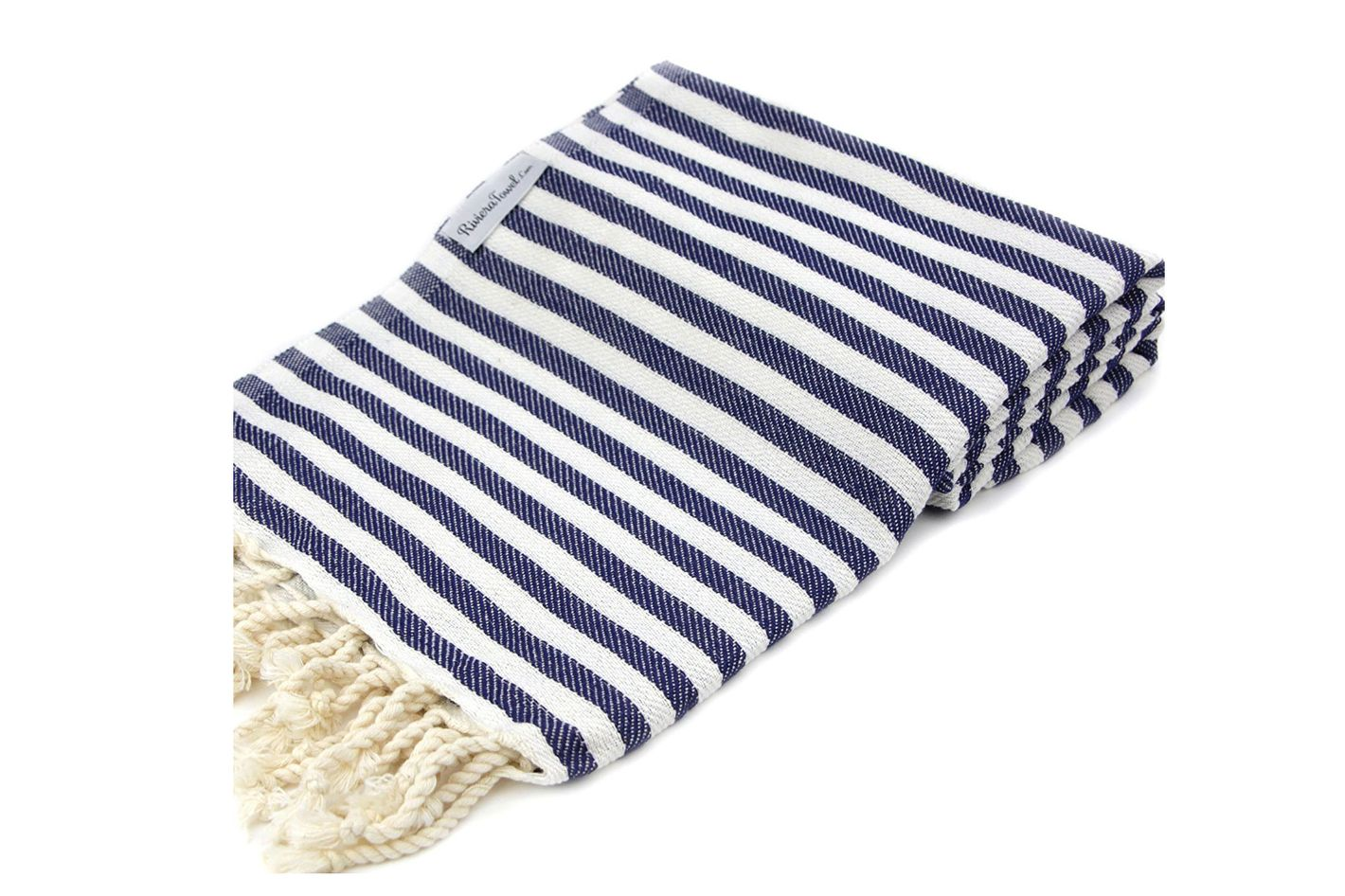 The Riviera Towel Company Navy Striped Turkish Towel