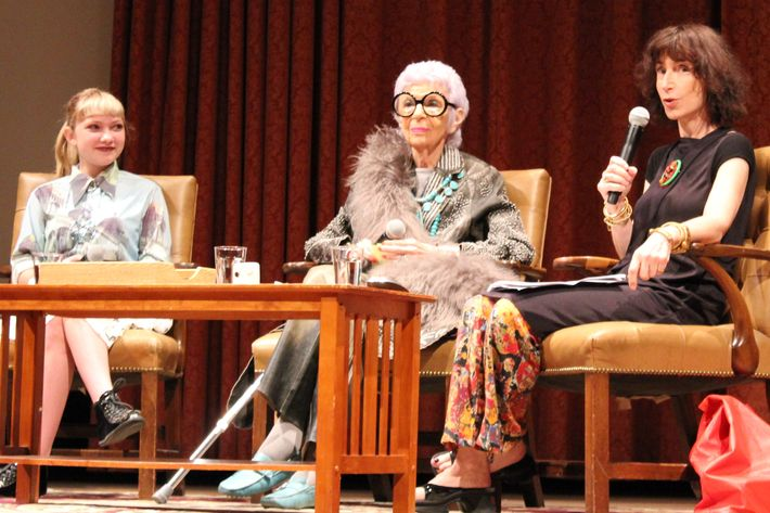 Tavi Gevinson, Iris Apfel, and Judith Thurman.