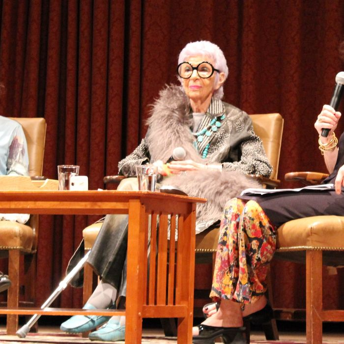 Tavi Gevinson, Iris Apfel, and Judith Thurman.
