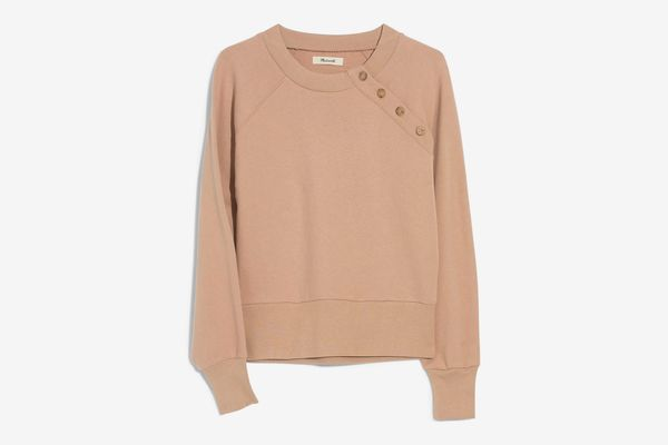Madewell Button Detail Sweatshirt