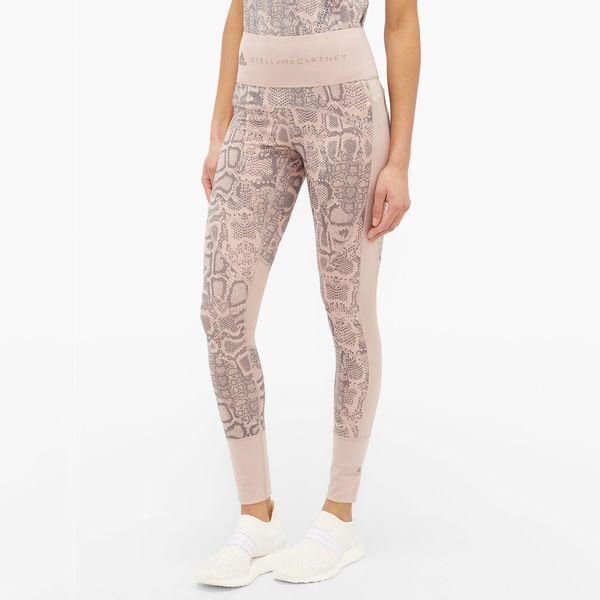 Adidas by Stella McCartney Snake-Print High-Rise Training Leggings