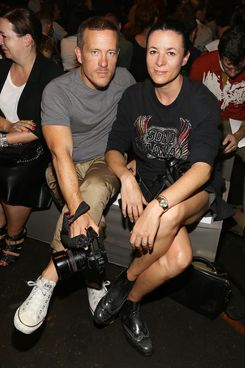 NEW YORK, NY - SEPTEMBER 10:  (L-R) Scott Schuman and Garance Dore attend the Marc By Marc Jacobs fashion show during Mercedes-Benz Fashion Week Spring 2014 at Pier 57 on September 10, 2013 in New York City.  (Photo by Astrid Stawiarz/Getty Images)