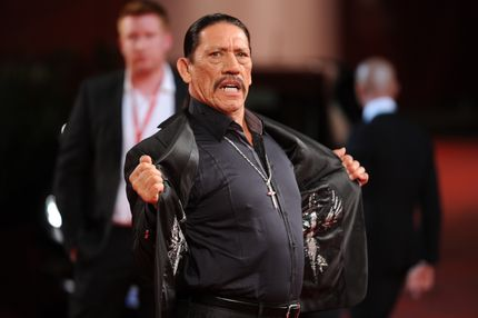 "Mexican actor Danny Trejo arrives for the screening of ""Machete"" on the opening day of the 67th Venice Film Festival on September 1, 2010 at Venice Lido. ""Machete"" by US director Robert Rodriguez and Ethan Maniquis with Mexican actor Danny Trejo and Jessica Alba is presented out of competition.      AFP PHOTO / ALBERTO PIZZOLI (Photo credit should read ALBERTO PIZZOLI/AFP/Getty Images)"