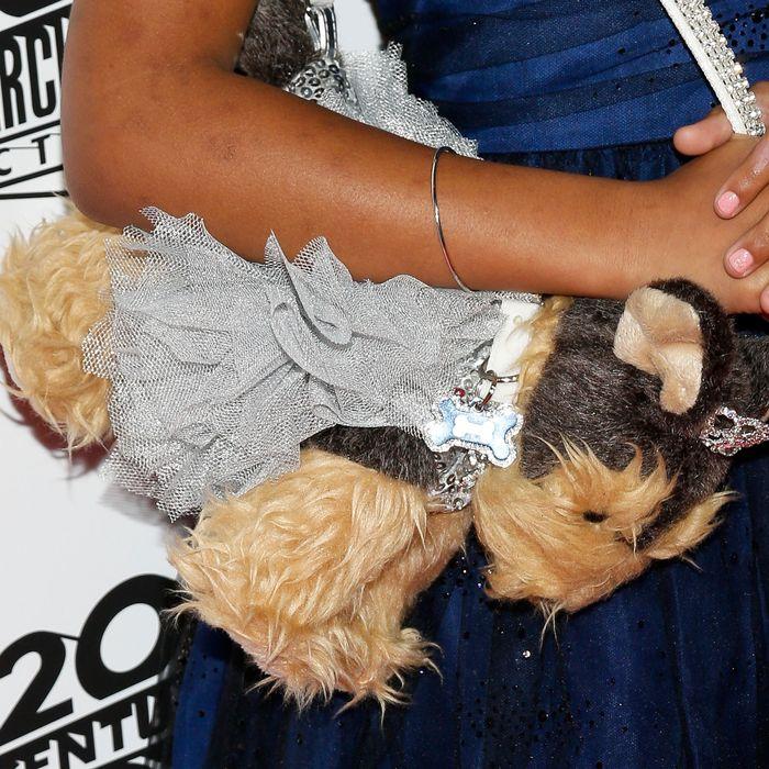 Wallis's dog purse.