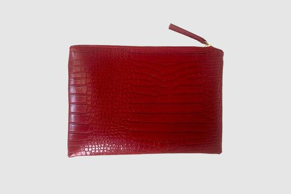 NIGEDU Women Clutches Crocodile Grain PU Leather Envelope Clutch Bag