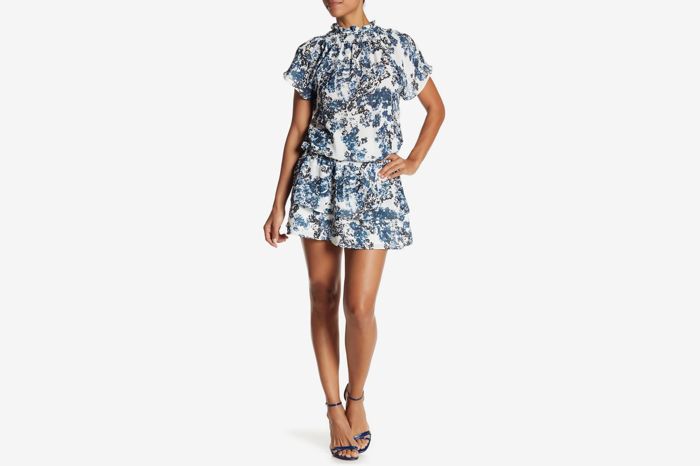 Parker Drop Waist Smocked Printed Dress