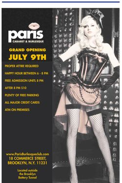 Red Hook's Paris Burlesque Club Set to Open Saturday