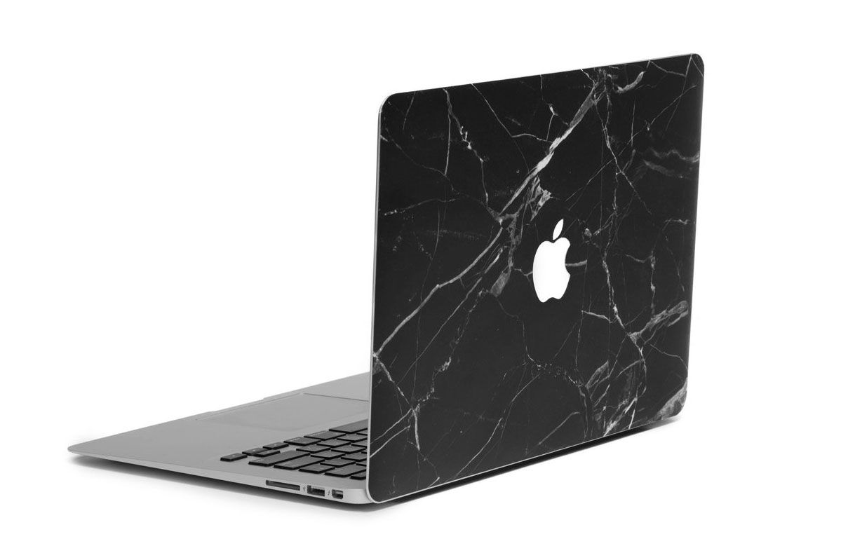 Black Hyper Marble MacBook Skin + Case