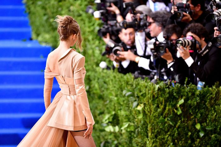 Gigi Hadid at the 2017 Met Gala.