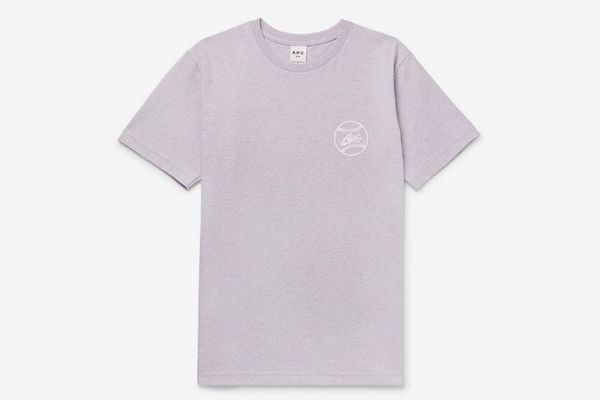A.P.C. Arrol Slim-Fit Logo-Print Cotton-Blend Jersey T-Shirt