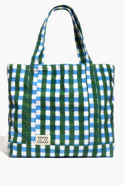 Madewell x SZ Blockprints Gingham Reusable Canvas Tote