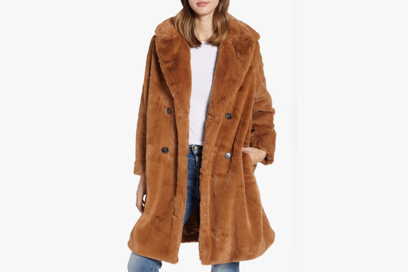 French Connection Annie Faux Fur