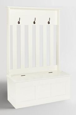 World Market White Wood Wentworth Entryway Storage Bench