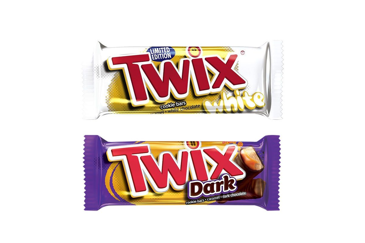 Twix Dark Chocolate Singles Size Candy, 1.79-Ounce Bar 36-Count Box