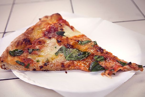 "<b>Special Slices</b>    <a href=""http://nymag.com/listings/restaurant/difara_pizza/"">Di Fara Pizza</a>    <i>Brooklyn</i>  You've probably heard the stories about Domenico DeMarco, the Midwood, Brooklyn, pie-maker who's been on the clock since 1959 and won't let anyone else touch the oven inside his Avenue J shop, where he makes the most soulful pizzas in New York. The stories are true. If you make it there and can't wait for a pie, try to get two slices: There's a bowl of sliced Calabrian chiles in oil for your first slice. Eat the second slice plain."