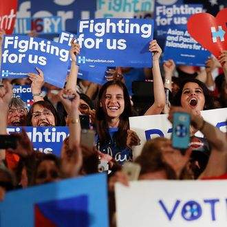 Hillary Clinton Campaigns In California's Bay Area