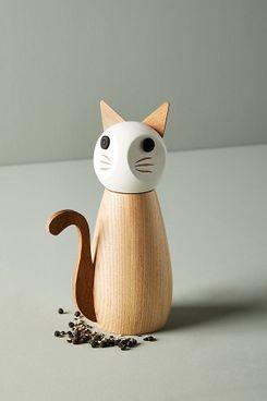 Wooden Cat Spice Grinder