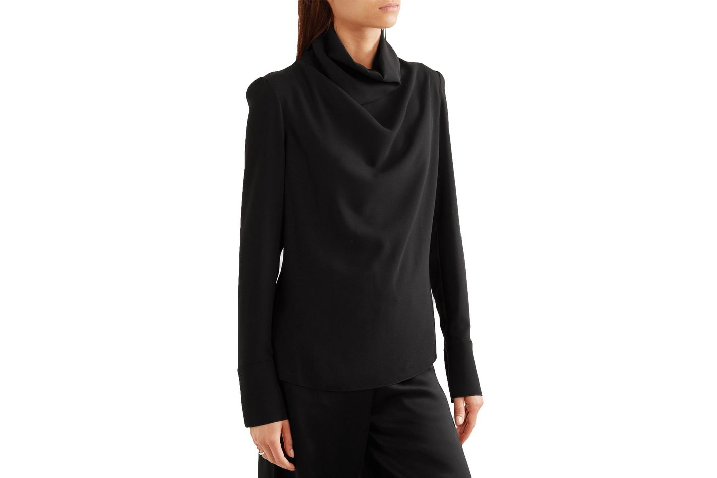 Maison Margiela Draped Crepe Blouse