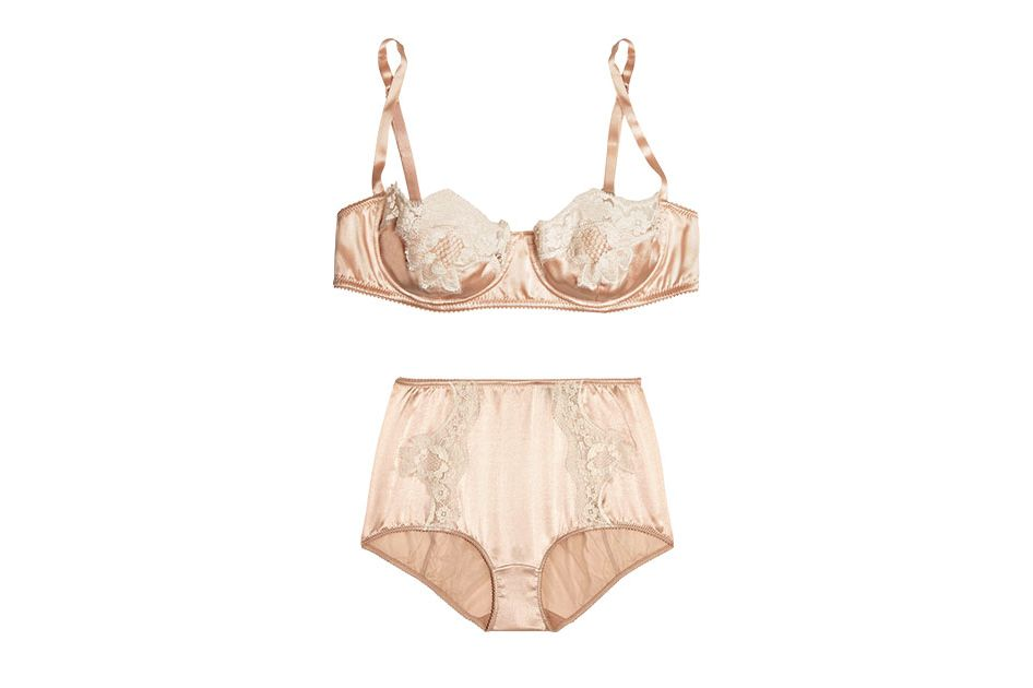 Silk Briefs and Balconette Bra
