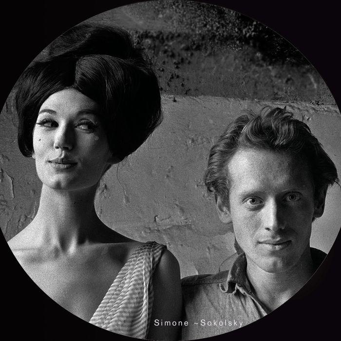 Melvin Sokolsky, self-portrait with model Simone D'Aillencourt.