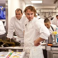 Achatz and Humm, in the thick of it.