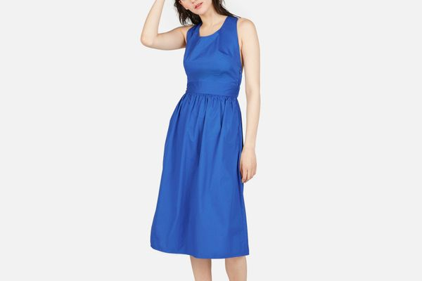Everlane The Clean Cotton Cross-Back Dress