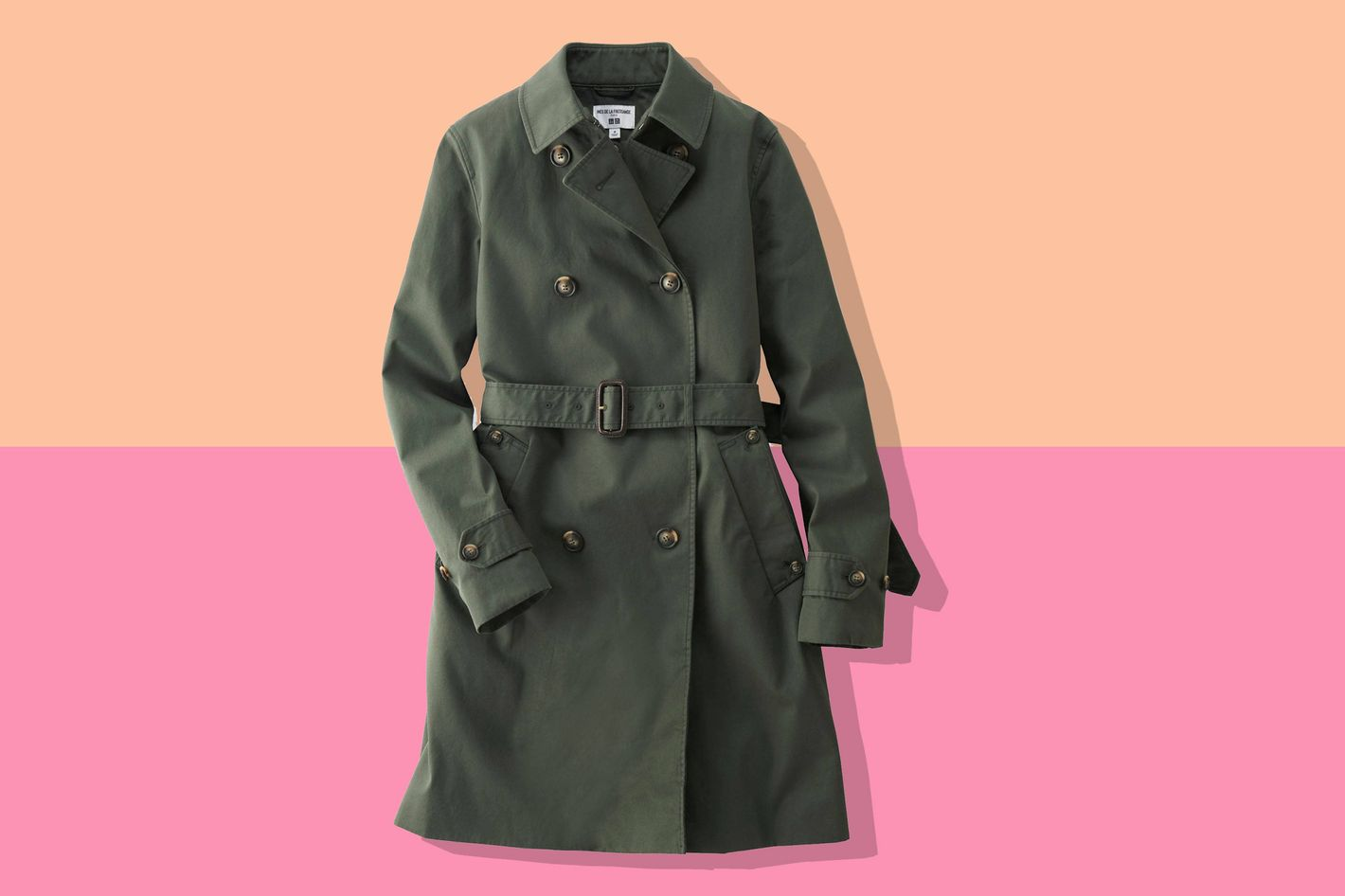 Inès de la Fressange Cotton Twill Trench Coat