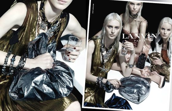 <b>Models: </b>Irene Hiemstra, Julia Nobis, and Sasha Luss   <b>Photographer: </b>Steven Meisel