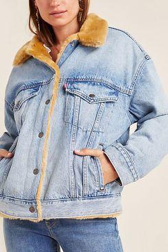 Levi's Kara Sherpa-Lined Denim Trucker Jacket