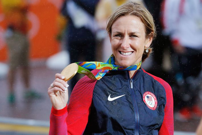 Kristin Armstrong with her third gold medal. What have you done with your life?