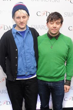(L-R) Designers Chris Peters and Shane Gabier attend the CFDA 2013 Awards Nomination event on March 13, 2013 in New York City.