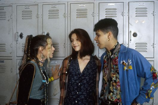 "MY SO-CALLED LIFE - ""Strangers in the House"" - Season One - 10/20/94Sharon's dad's heart attack mended the broken friendship between Sharon and Angela (Claire Danes, center). A.J. Langer (Rayanne) and Wilson Cruz (Rickie) also starred.(AMERICAN BROADCASTING COMPANIES, INC.)"