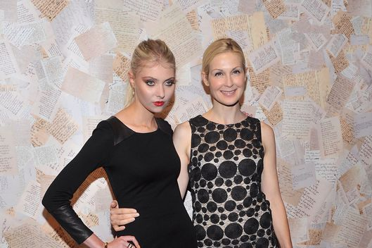 NEW YORK, NY - SEPTEMBER 09:  Actresses Taylor Momsen and Kelly Rutherford attend the Alice + Olivia presentation during Spring 2014 Mercedes-Benz Fashion Week at Highline Stages on September 9, 2013 in New York City.  (Photo by Henry S. Dziekan III/WireImage)