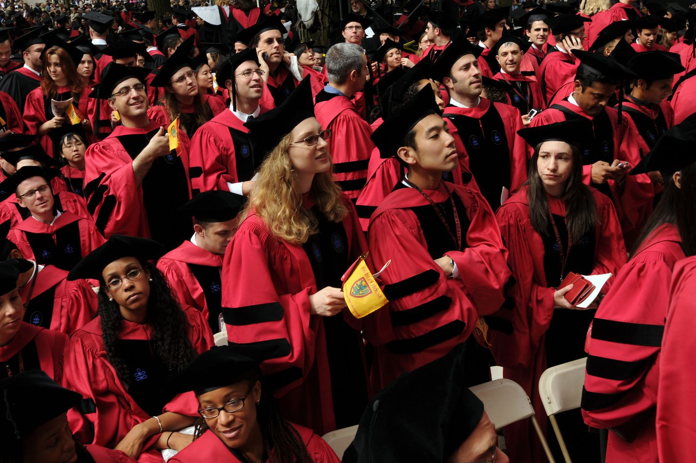 Harvard University students attend commencement ceremonies