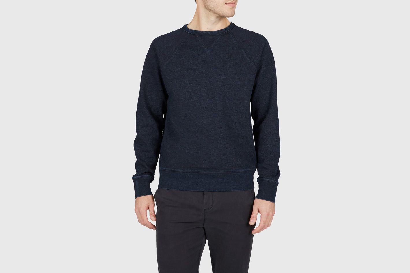 Everlane Indigo French Terry Crew