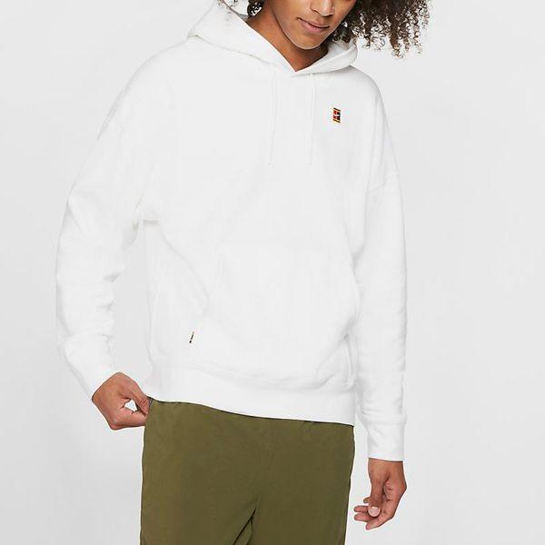 NikeCourt Fleece Tennis Hoodie, White
