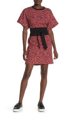 Rebecca Minkoff Marta Belted Ditzy Floral Dress